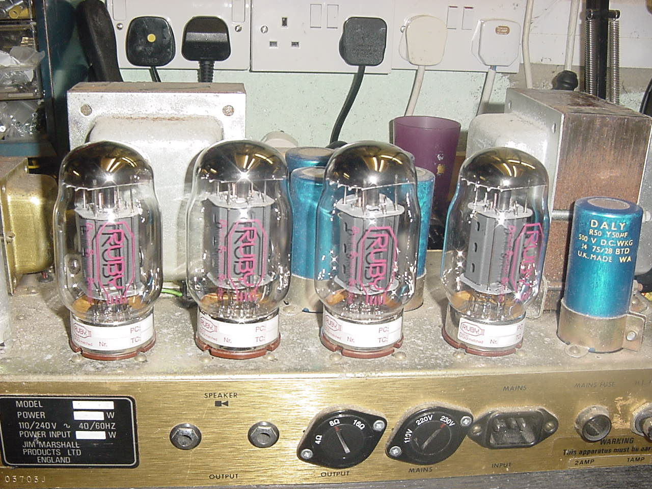 Quad Valve Amplifier Repair Photos